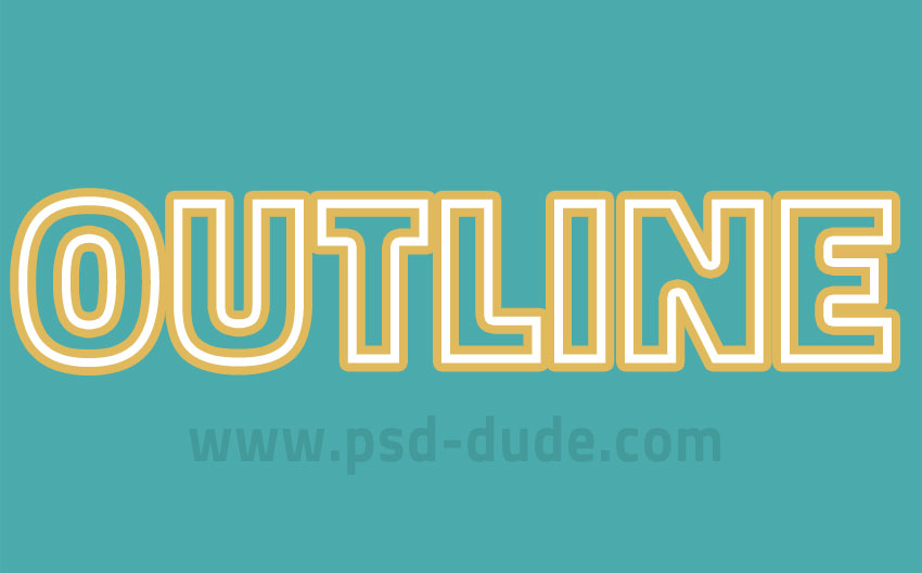 multiple strokes text in photoshop