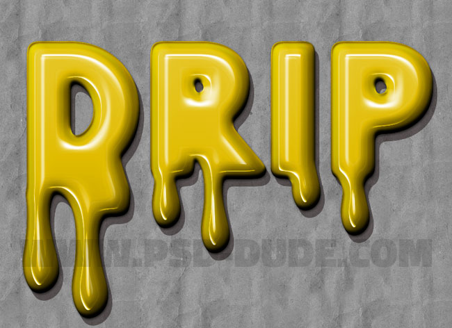 paint drip effect in photoshop