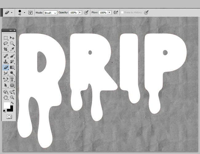 drip shapes in photoshop
