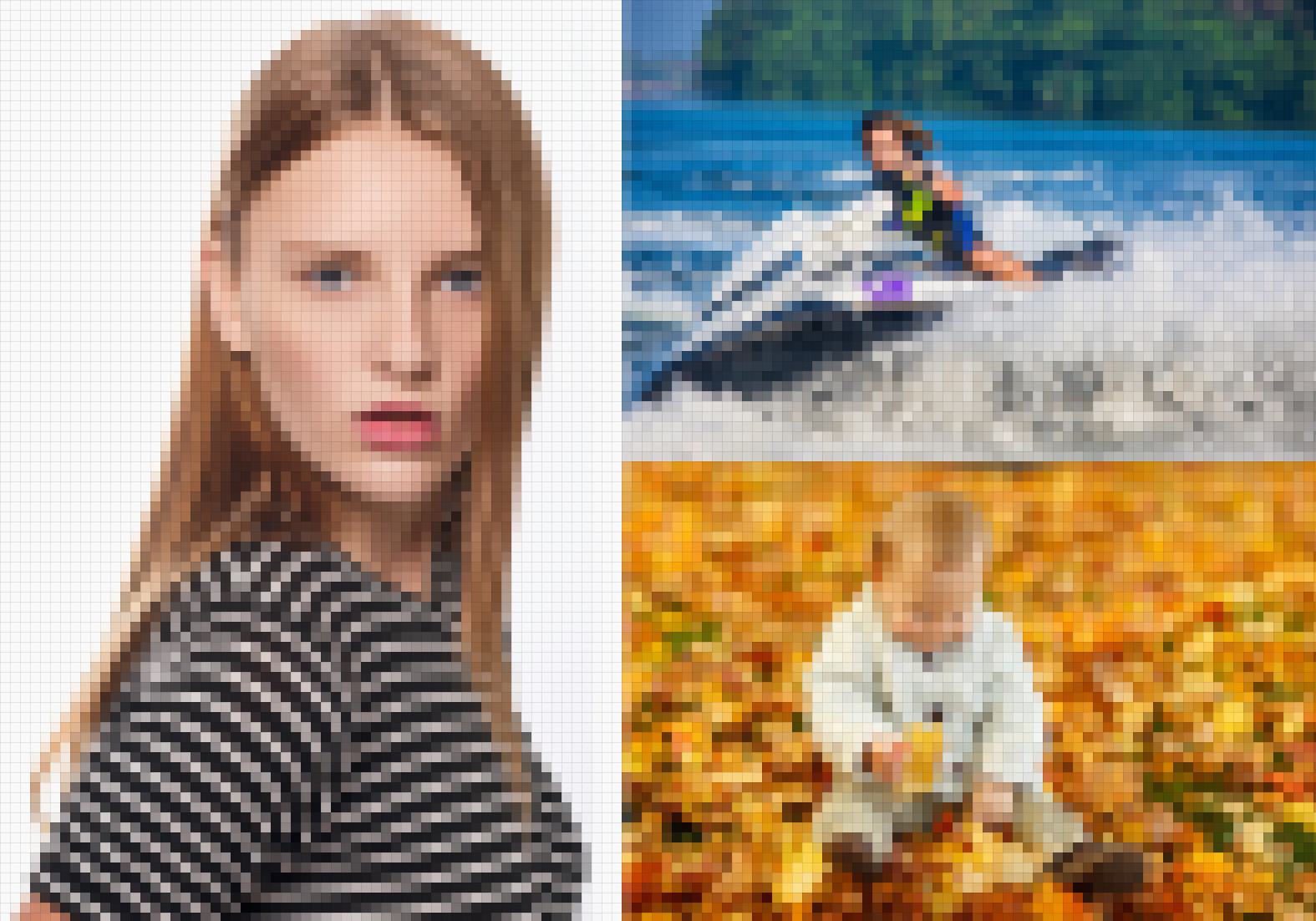 Photoshop Photo Line Art Effect : Pixel photo effect in photoshop with mosaic filter