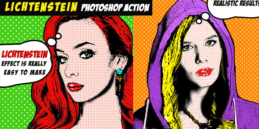 Pop Art Lichtenstein Photoshop Action