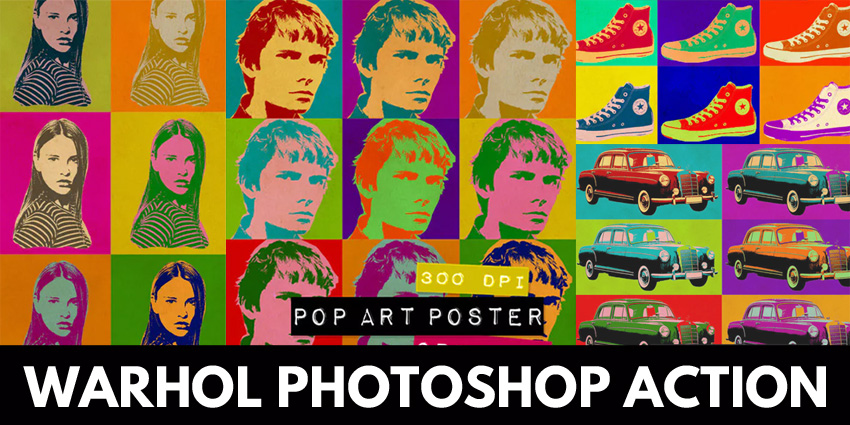 Pop Art Warhol Photoshop Action