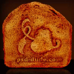 Quick Tip Add A Toasted Logo To a Piece of Bread psd-dude.com Tutorials