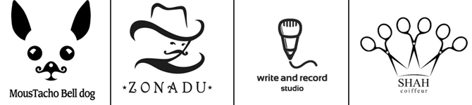 100 Creative and Smart Black and White Logo Designs psd-dude.com Resources