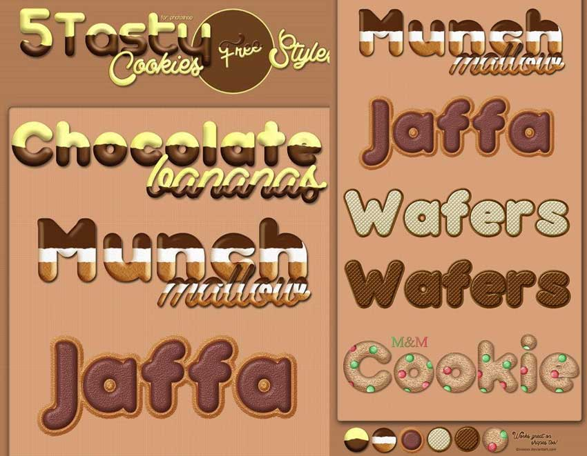 5 Tasty Cookies PS Styles for Free