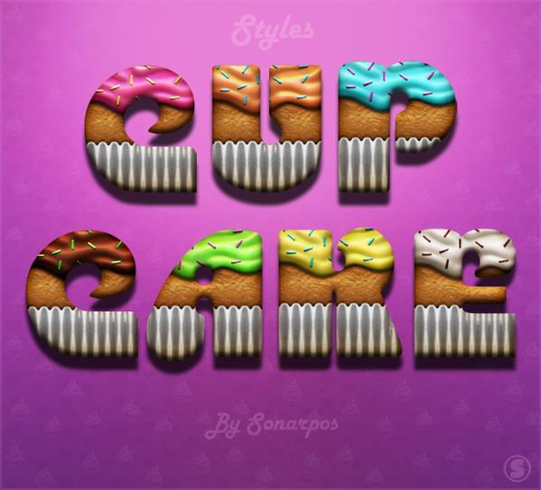 Cupcake Photoshop Styles Freebie