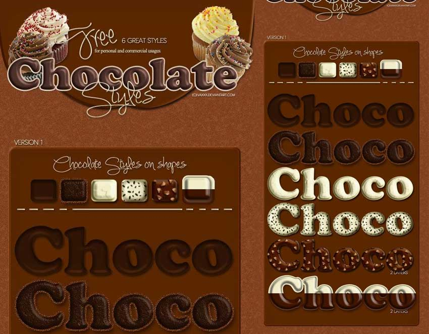 Free Chocolate Styles