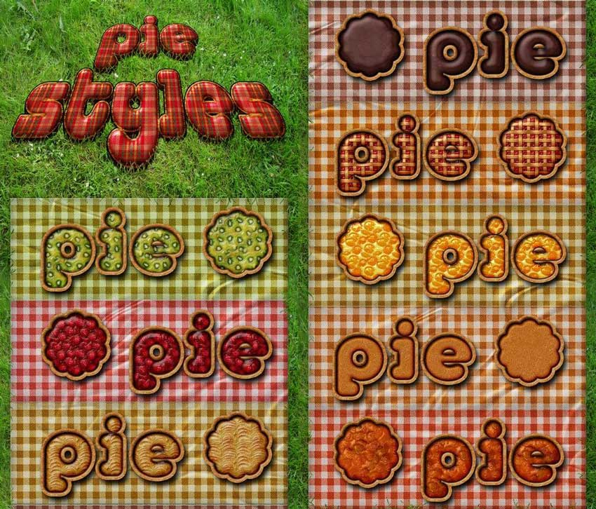 Free Pie Styles for Photoshop