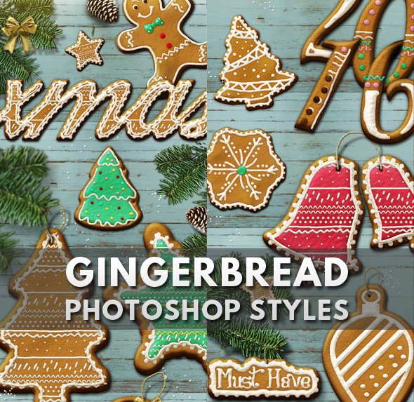Gingerbread Text Style Photoshop Creator