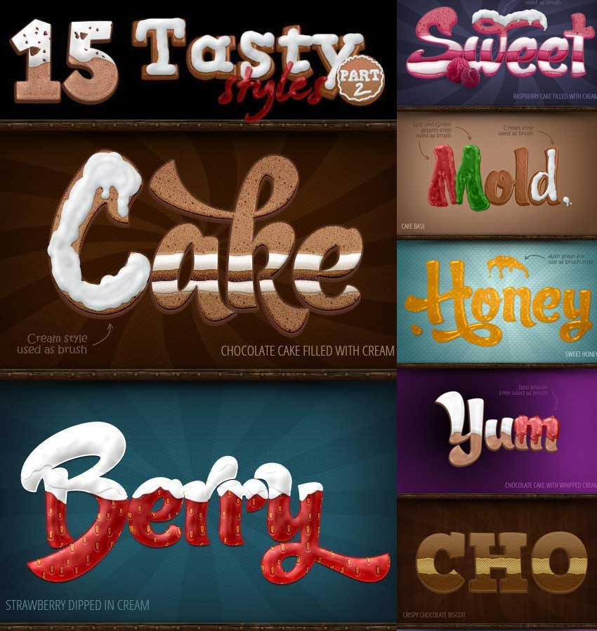 Sweet and Tasty Photoshop Styles