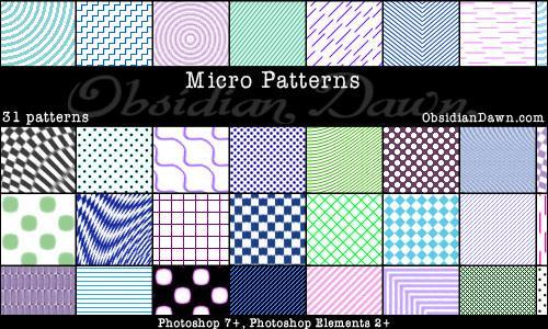 Small Photoshop Patterns