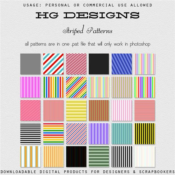 Striped Photoshop Patterns by cesstrelle photoshop resource collected by psd-dude.com from deviantart