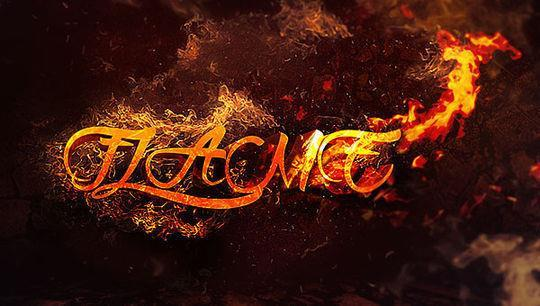 3d text surrounded by flame photoshop tutorial