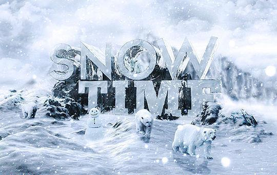 Create 3d snow text effect using cinema 4d and photoshop