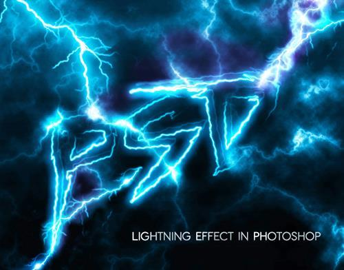 Electric Lightning Text Effect Photoshop Tutorial