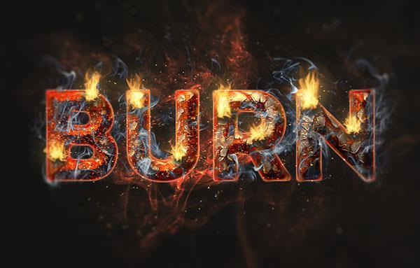 Fire Flame and Rust Typography in Photoshop CC