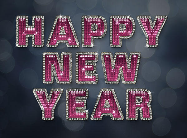 Create a Glamorous Sparkling New Year Text Effect in Adobe Photoshop