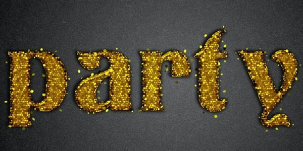 Glitter Sparkle Text effect Photoshop Tutorial