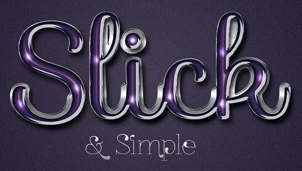 How to Make an Elegant glossy Text in Photoshop