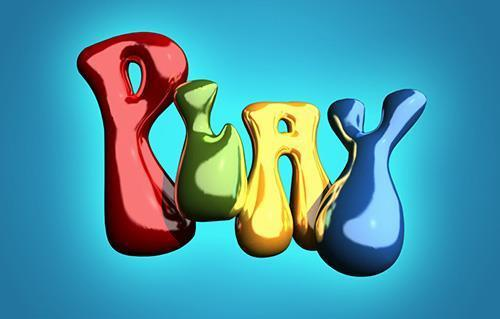 Inflated Super Glossy Baloon 3D Text Effect in Photoshop CC