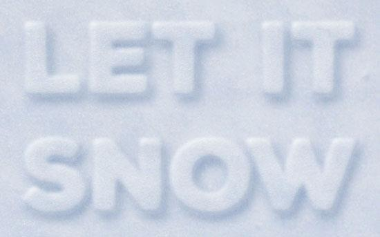 Simple 3d snow writing text effect in Photoshop
