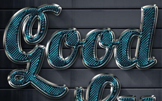 Sparkling glass textured text effect in Photoshop