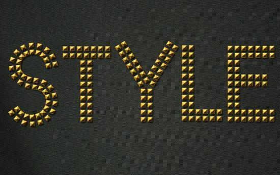 Studded Leather Text effect Photoshop Tutorial