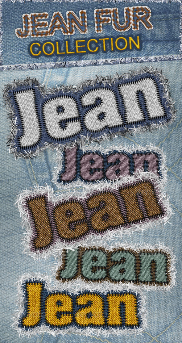 Jeans and Fur Fabric Photoshop Creator