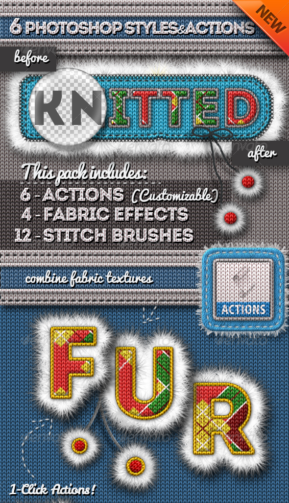 Knitted and Fur Photoshop Creator