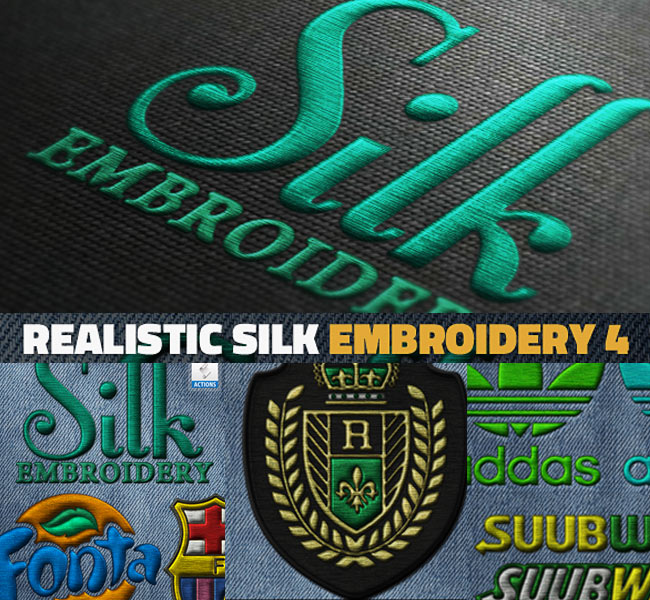 Silk Embroidery Effect Photoshop Action