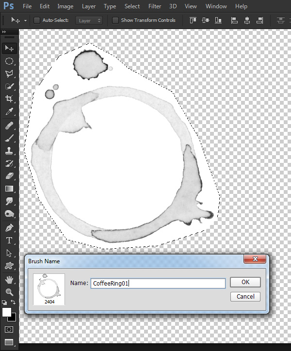 Create Realistic Coffee Ring Brushes in Photoshop