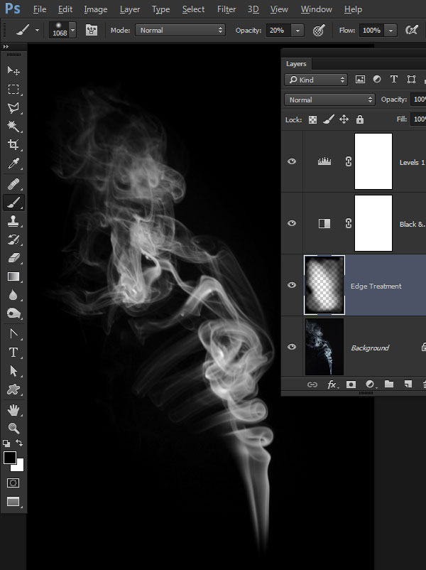 Create Realistic Smoke Brushes from Scratch Photoshop Tutorial