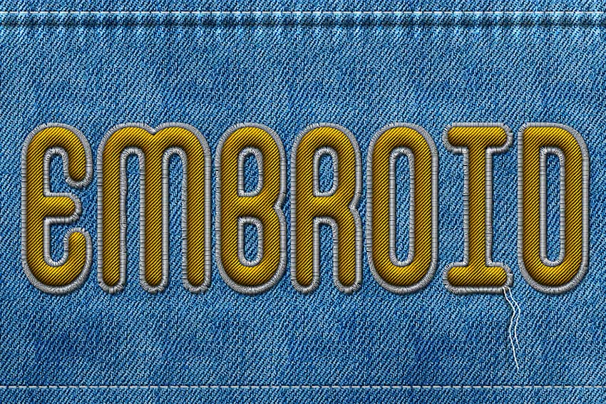 How to Create a Realistic Embroidery Text Effect in Adobe ...