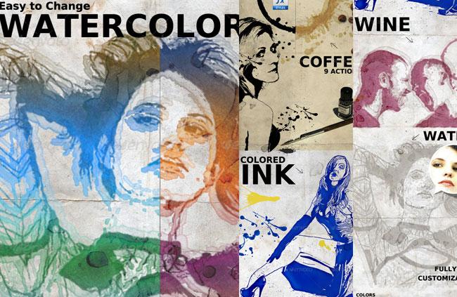 Line Art Effect Photoshop Tutorial : 16 watercolor photoshop tutorials psddude