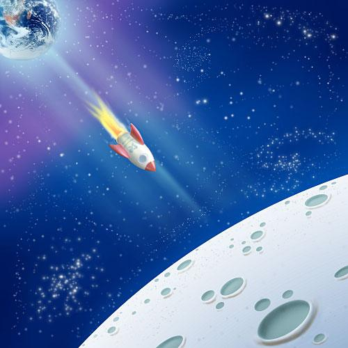 20 space photoshop tutorials psddude for Outer space scene