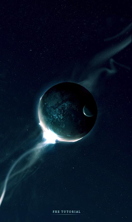 20 space photoshop tutorials psddude for Space tutorial