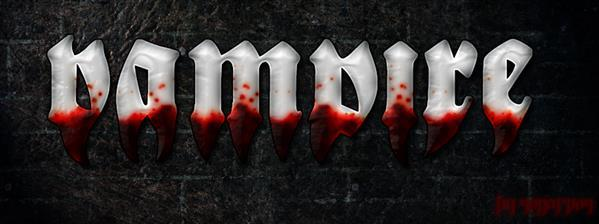 Bloody Vampire Photoshop Text Style