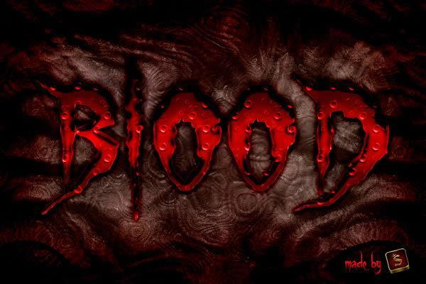 Create a frightening Halloween bloody text effect in Photoshop