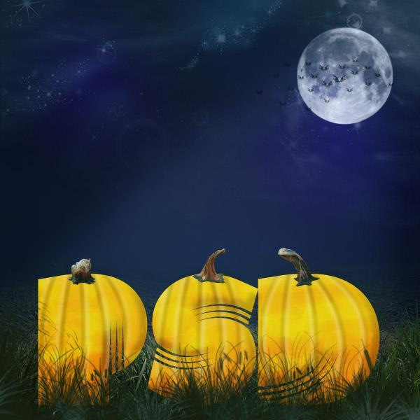 Design a halloween pumpkin text effect in Photoshop