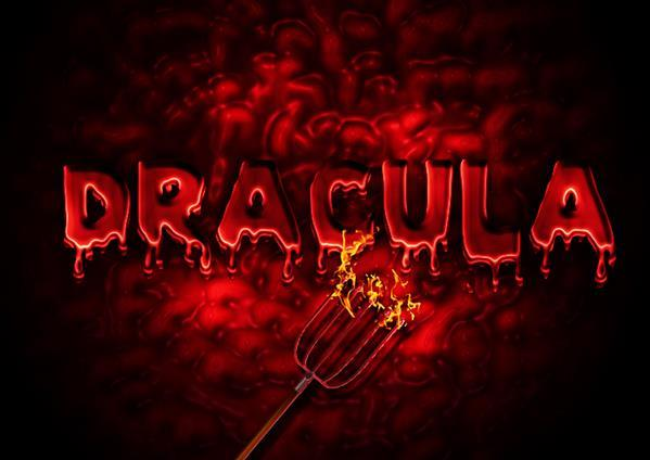 Dracula bloody text effect in photoshop