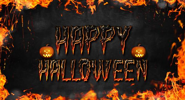 Fire Halloween Text Style Photoshop Tutorial