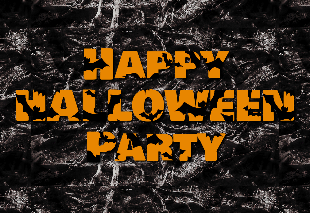 Happy Halloween Text Effect With Bats Texture