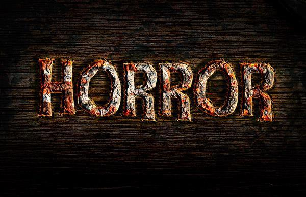 Rusty horror text effect in Photoshop