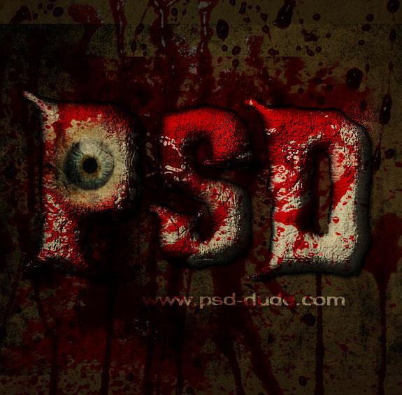 Spooky Blood horror text effect in photoshop