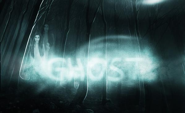 Spooky ghost Halloween text effect Photoshop tutorial