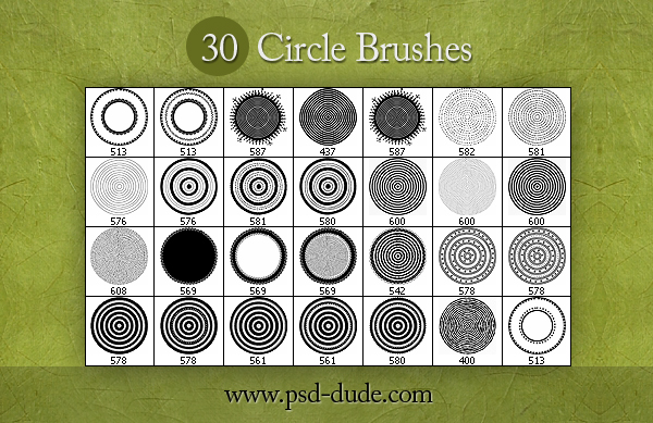 30 Circle Brushes   PSDDude