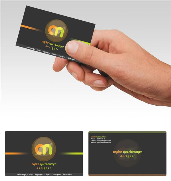 Business Card by Anarkysth photoshop resource collected by psd-dude.com from deviantart