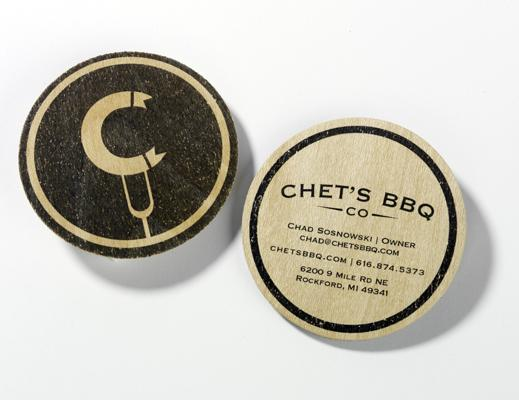 Chets BBQ ID and business card by  photoshop resource collected by psd-dude.com from Behance Network