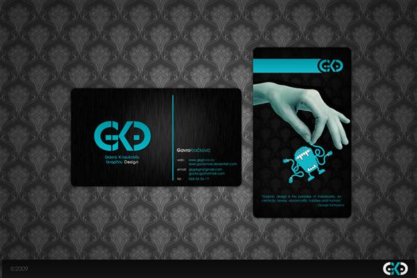 GKGD Business card by goofymne photoshop resource collected by psd-dude.com from deviantart
