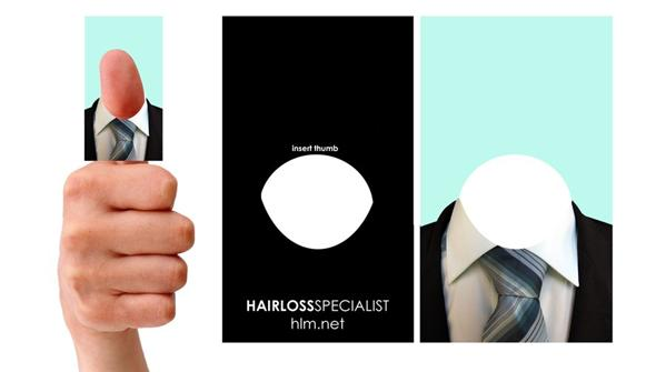 Hairloss company Business card by SJROBZY photoshop resource collected by psd-dude.com from deviantart